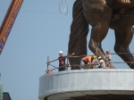 Getting the monument ready