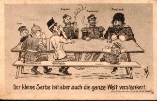 Anti-Serb propaganda postcard from Austria-Hungary